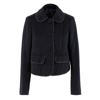 Burberry Navy Wool & Cashmere-blend Jacket