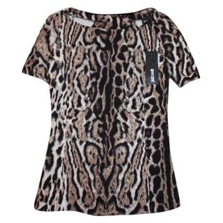 Just Cavalli leopard-print stretch top