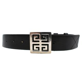 Givenchy Black Engraved 4G Belt