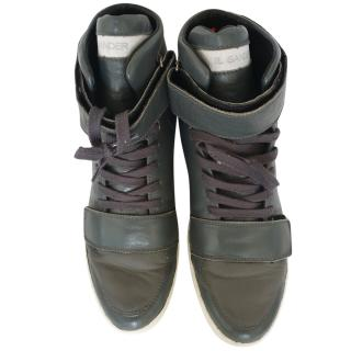 Jil Sander High-Top Leather Trainers