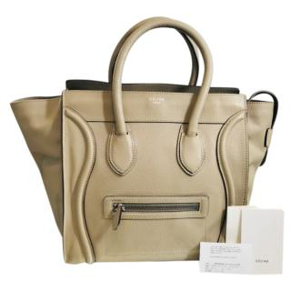 Celine Luggage Leather Tote Bag