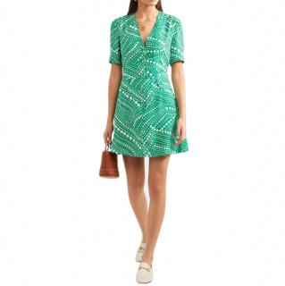 Rixo Laura Spot Mini Dress