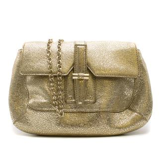 Yves Saint Laurent Metallic Gold Handbag