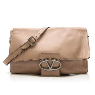 Valentino Beige Leather Shoulder Bag