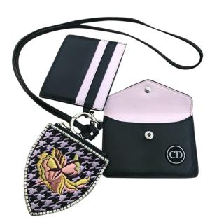 Dior Diorissimo Trio Pass Leather Card & Coin Purse / Wallet