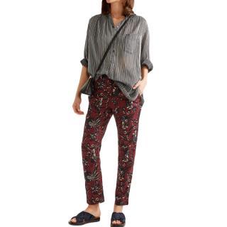 Isabel Marant Janelle floral-print trousers