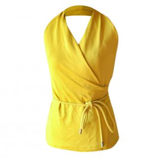 MaxMara yellow halterneck top