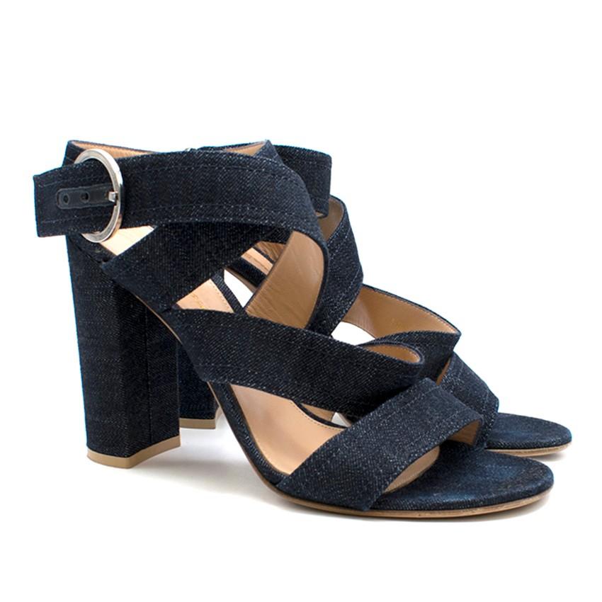 Gianvito Rossi Denim Strappy Heeled Sandals