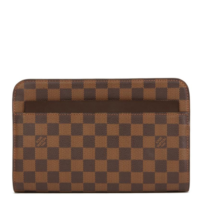 03130f2a4feb Louis Vuitton Saint Louis Ebene Damier Canvas Clutch
