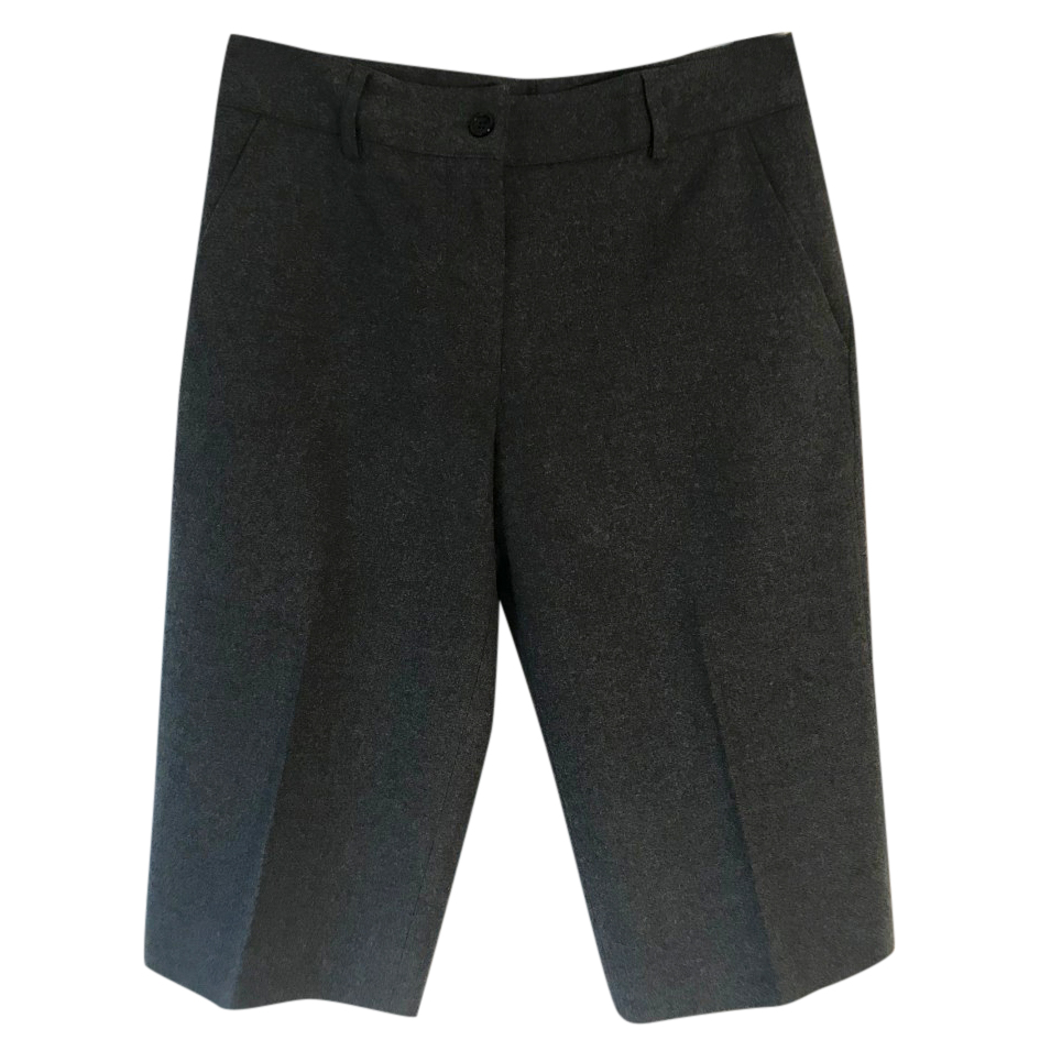 Gerard Darel virgin wool grey Bermuda shorts