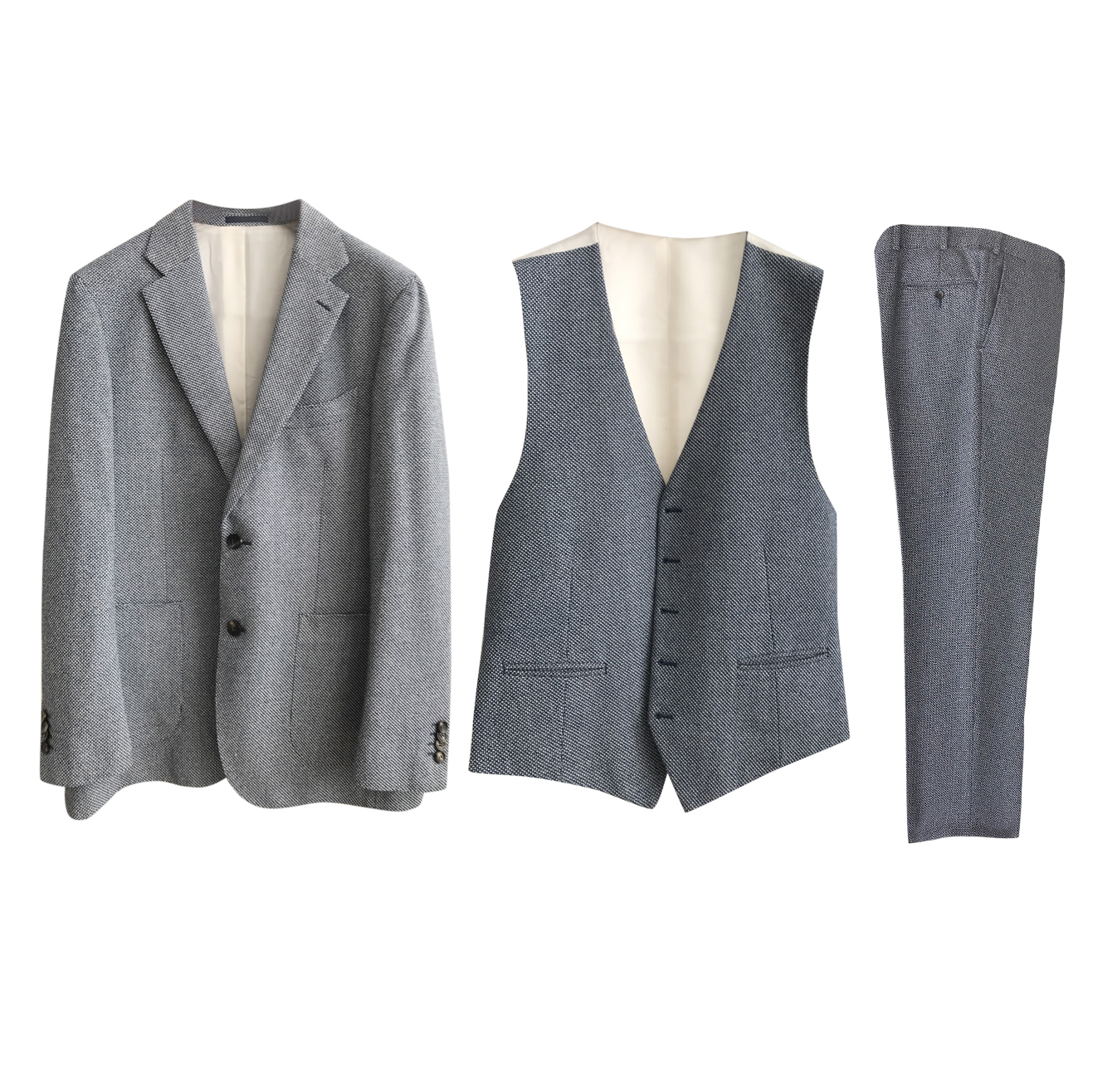 Suitsupply Grey Three-Piece Suit