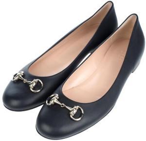 Gucci Horsebit Black Leather Ballet
