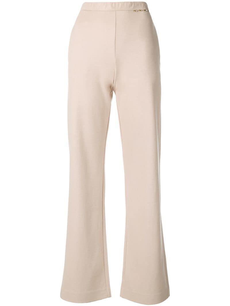 Max Mara Straight Cut Beige Trousers
