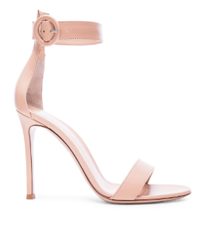 Gianvito Rossi nude leather sandals