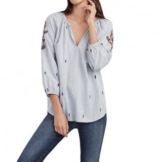 Velvet by Graham & Spencer Shailene Embroidered Blouse
