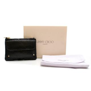 Jimmy Choo Black Glitter Coin Purse