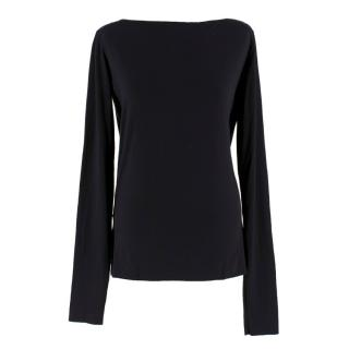 Givenchy Black Cut-Out Crew-Neck Sweater