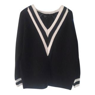 Rag and bone black & white knit sweater