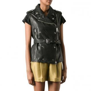 Isabel Marant Etoile leather biker gilet