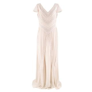 Temperley London Cream Lace Detail Gown