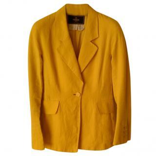 Fendi Yellow Linen Blazer