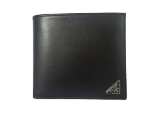 Prada leather bi-fold wallter