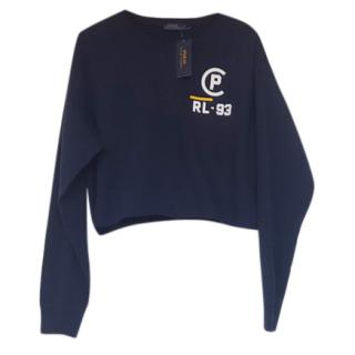 Polo Ralph Lauren Blue Cropped Sweatshirt