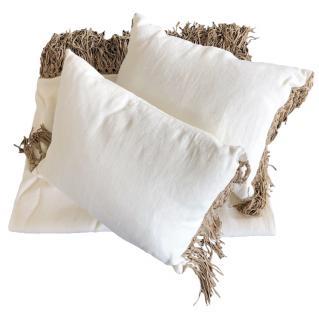 Ralph Lauren Home linen and suede plaid & cushion set
