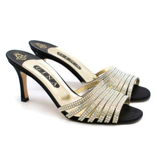 Gina Crystal Embellished Straps Heeled Sandals