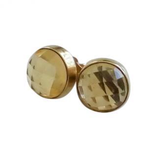 Gilda Tryst large citrine stud earrings