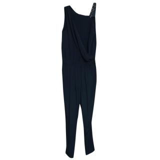 Trussardi Black Tapered Studded Jumpsuit