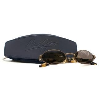 Gucci Oval Tortoise Shell Sunglasses