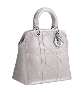 Christian Dior Granville Grey Leather Bag