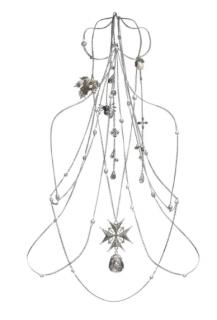 Alexander McQueen crystal-encrusted harness