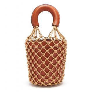 Staud Moreau Macrame & Leather Bucket Bag
