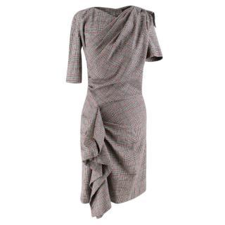 Isabel Marant Kinsley Asymmetric Pleated Check-Print Dress