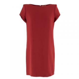 Saint Laurent Red Shift Dress