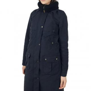 See by Chloe Detachable-Lining Navy Parka