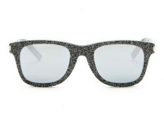Saint Laurent SL 51 Black Holographic Glitter Unisex Sunglasses