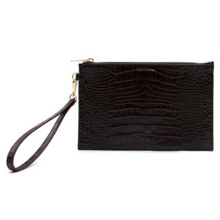 Scanlan Theodore Purple Croc Embossed Envelope Bag