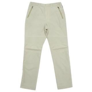 Moncler Vintage Lined Beige Biker Trousers