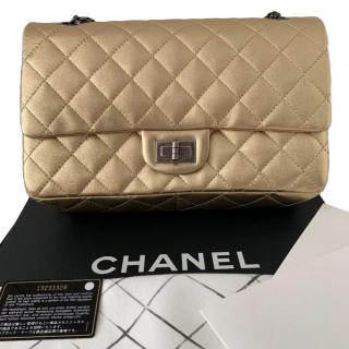 Chanel 2.55 Reissue Jumbo gold quilted-leather bag