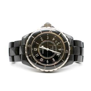 Chanel Black & Silver J12 Automatic Watch