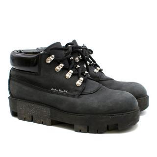 Acne Studios Tinne She Dark Grey Ankle Boots