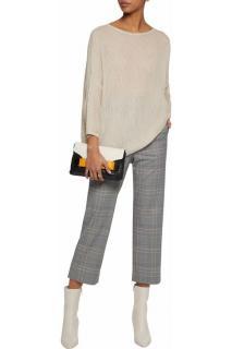 M Missoni Metallic Beige Open-knit Sweater