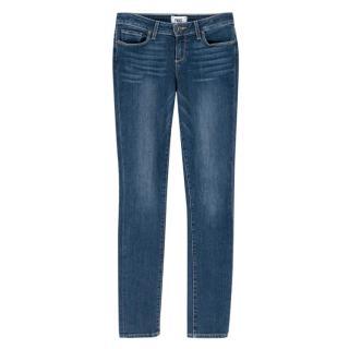 Paige Dark Blue Skyline Skinny Jeans