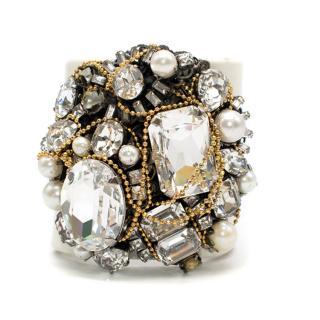 Erickson Beamon White Jewel Cuff Bracelet
