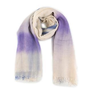 Bottega Veneta Tie-Dye Cashmere Silk Scarf