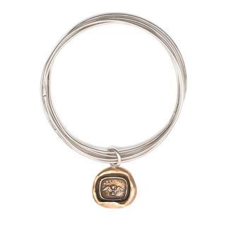 Pyrrha Silver 5 Hoops Bracelet