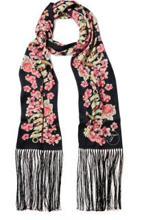 Temperley Treasure Fringed Printed Scarf